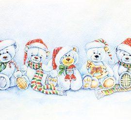 AL1051(Рождественские мишки)