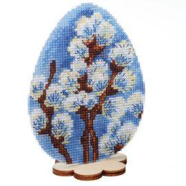 Вышивка нитками на пластиковой канве - пасхальная серия