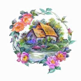 AL1066 Виньетка Розы